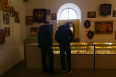 Amber Exhibition Hall Royalty Free Stock Images
