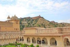 Amber Fort à l'intérieur, Jaipur, Ràjasthàn, Inde Photos stock