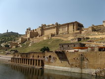 Amber Fort. In the outskirts of Jaipur, Rajasthan, India Royalty Free Stock Images