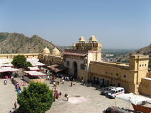 Amber Fort. In the outskirts of Jaipur, Rajasthan, India Royalty Free Stock Photo