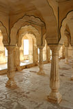 Amber fort. Pillars in Amber fort, India Stock Images