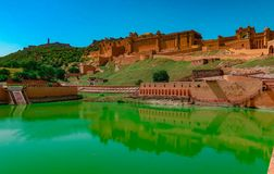 Amber Fort or Amer Fort is a fort , Jaipur, Rajasthan royalty free stock image