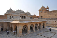Amber Fort Courtyard Royalty Free Stock Photos