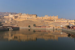 Amber Fort dans l'état du Ràjasthàn d'Inde Photos libres de droits