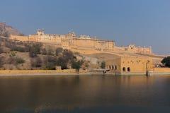 Amber Fort dans l'état du Ràjasthàn d'Inde Photographie stock libre de droits