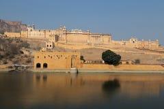 Amber Fort dans l'état du Ràjasthàn d'Inde Photographie stock