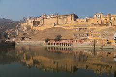 Amber Fort dans l'état du Ràjasthàn d'Inde Photo stock