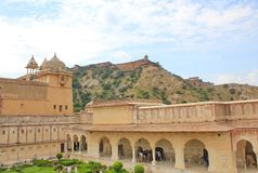 Amber Fort dentro, Jaipur, Rajasthán, la India Fotos de archivo
