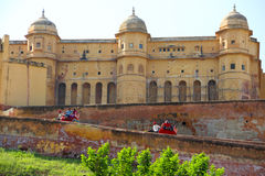 Amber Fort with the elephant in Jaipur Stock Photo