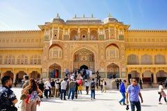Amber Fort em Jaipur, Índia Fotografia de Stock