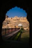 Amber Fort em Jaipur, o império de Mughal Imagens de Stock