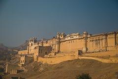 Amber Fort em Jaipur, o império de Mughal Fotografia de Stock