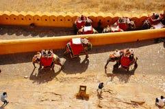 Amber Fort en Jaipur, la India imágenes de archivo libres de regalías