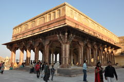 Amber Fort en Jaipur, la India Foto de archivo