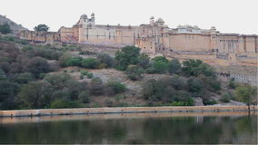Amber Fort in the evening stock video