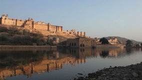 Amber Fort in the evening stock video footage