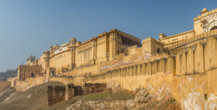 Amber fort. An external view of the Amber fort in Jaipur India Stock Photo