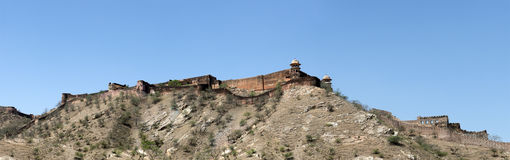 Amber Fort Fortification, Travel to India, Panorama Stock Image