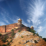 Amber fort on the hill. India Royalty Free Stock Image