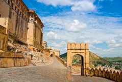 Amber Fort i Jaipur, Rajasthan, Indien Arkivfoton