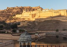 Amber Fort of India at sunrise, Jaipur, Rajasthan