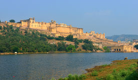 Amber Fort, Jaipur. Amer Fort is located in Amer, 11 km from Jaipur, Rajasthan state, India Royalty Free Stock Images