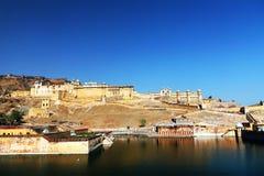 Amber fort in Jaipur Royalty-vrije Stock Foto's