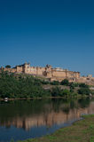 Amber Fort Jaipur across the lake Stock Photos