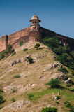 Amber Fort Jaipur - hilltop fortifications Royalty Free Stock Image