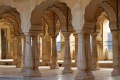 Amber fort, Jaipur, India. The Amber Fort near Jaipur, Rajasthan, India stock images