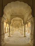 Amber Fort - Jaipur - India. Sattais Katcheri in the Amber Fort (Amer Fort) has 27 colonnade pillars - Jaipur in India Royalty Free Stock Photos