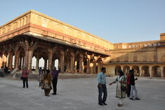 Amber Fort in Jaipur, India Royalty-vrije Stock Afbeeldingen