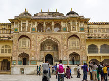 Amber Fort in Jaipur, India Stock Afbeelding