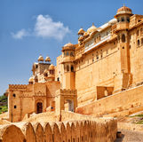 Amber Fort, Jaipur, India. Ramparts of Amber Fort, Amer, is the principle tourist attraction in Jaipur, India Stock Photos