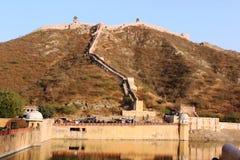 Amber Fort a Jaipur. L'India immagine stock libera da diritti