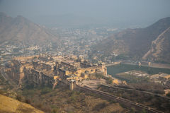 Amber Fort in Jaipur, the Mughal Empire stock photo