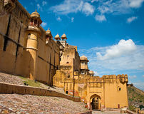 Amber Fort in Jaipur, Rajasthan, India. Stock Photos
