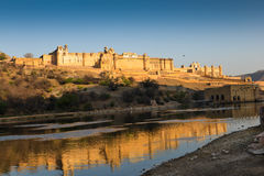 Amber Fort with his reflection Stock Photography