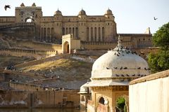 Amber Fort. In jaipur in rajasthan state in india stock photos