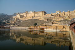 Amber Fort, Jaipur. A view of Amber fort with a nice reflection Stock Image