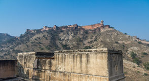 Amber Fort. A landscape view of the Amber Fort in Jaipur Royalty Free Stock Photo