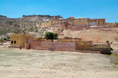 Amber Fort nahe Jaipur, Rajahstan Lizenzfreies Stockbild