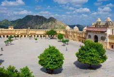 Amber Fort near Jaipur city , India Royalty Free Stock Image