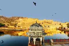 Amber Fort near Jaipur city in India Stock Photo
