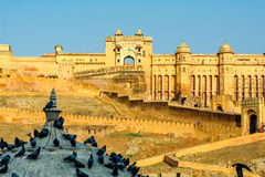 Amber Fort near Jaipur city in India Royalty Free Stock Photos