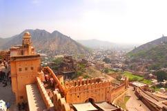 Amber Fort near Jaipur, Rajasthan, India Stock Photography