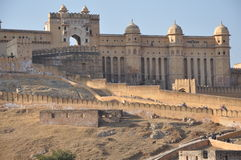 Amber Fort & Palace in Jaipur Royalty Free Stock Photo