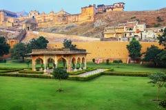 Amber Fort près de Jaipur au Ràjasthàn, Inde Photos stock