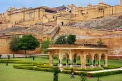 Amber Fort près de Jaipur au Ràjasthàn, Inde Photo libre de droits