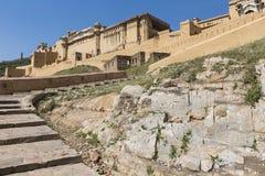 Amber Fort près de Jaipur au Ràjasthàn, Inde Amber Fort est le mA Images stock